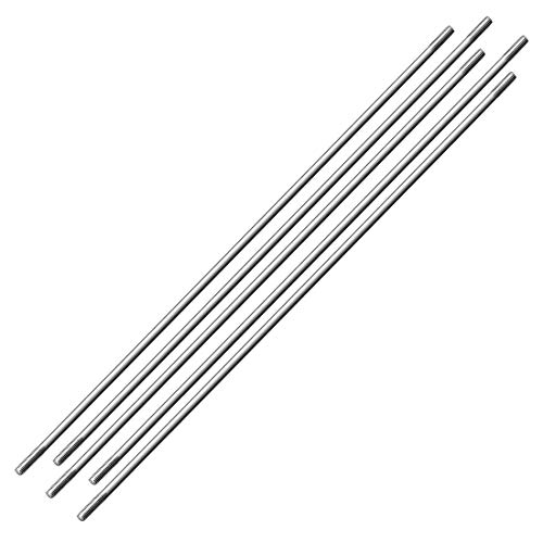 uxcell M3x200mm Pushrod Connector Stainless Steel Rod Linkage,for RC Boat,Car,Airplane,Helicopter,5pcs