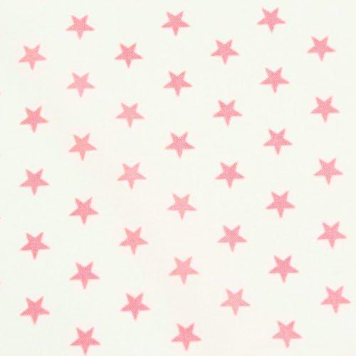 Tela algodón blanco Etoiles rosas claras – por 50 cm: Amazon.es: Hogar