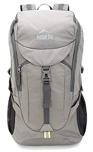Venture Pal Hiking Backpack - Packable Durable Lightweight Travel Backpack Daypack for Women Men(Grey)
