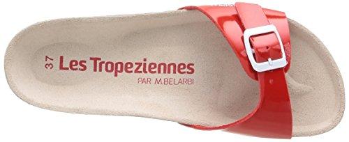 Les Tropéziennes par M. Belarbi Pornic - Zuecos de material sintético para mujer Rojo - Rouge (Vernis/Rouge)