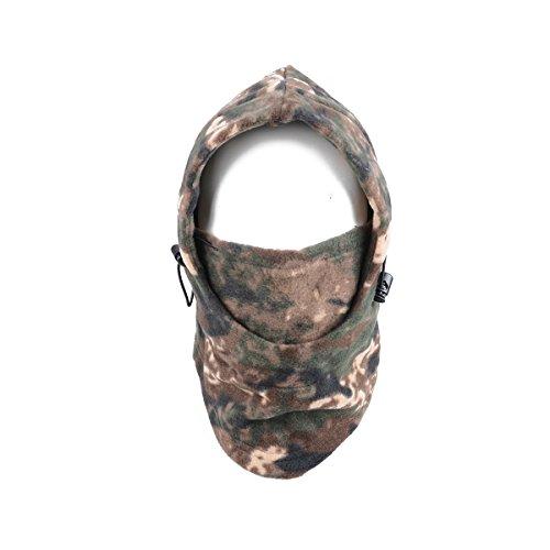 Azarxis Balaclava Ski Mask Full Face Mask Military Hood Neck Warmer Balaclava Hat Fleece (Camo-21)