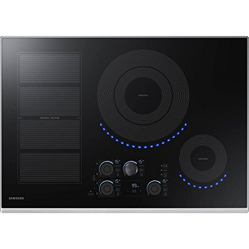 """Samsung 30"""" Stainless Steel Induction Smoothtop Cooktop with"""