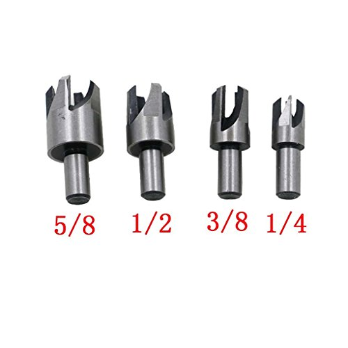 Dovewill 8Pieces / Set Straight & Claw Type Wood Plug Hole Cutter Woodwork Cutting Drill Bits by Dovewill (Image #5)