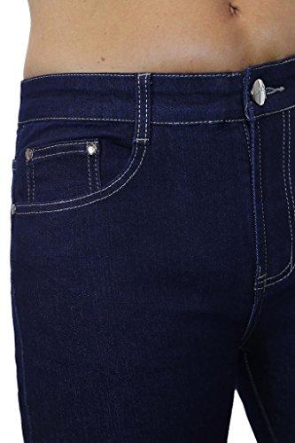 Bleu Sombre en Jeans Extensible Denim 1528 Ice Fluide AnUqzTPn0