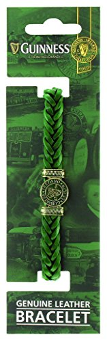 Guinness Genuine Green Leather Harp Bracelet