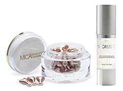 Mica Beauty Skin Care Bundle: Advanced Multi-vitamin Time Complex Capsule + Vita-c Exfoliating Peeling Gel
