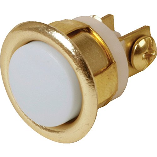 (Newhouse Hardware Unlighted Flush Mount Door Bell Chime Button, Size: 5/8