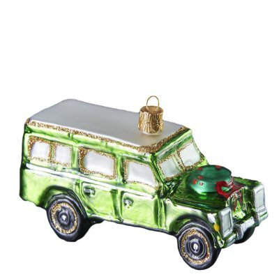 Green Off-road Vehicle Christmas Glass ()