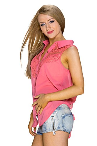 C MAGNIFIQUE - Camisas - Túnica - Básico - Sin mangas - para mujer Coral