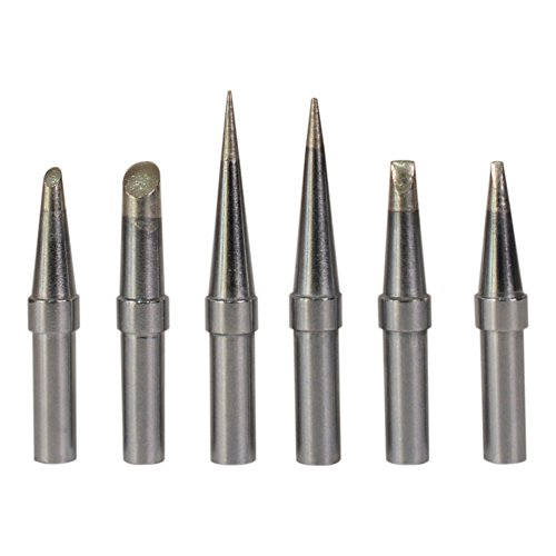 Bleiou 6 Pcs/Set Replacement ET Soldering Iron Tips for Weller WE1010NA, WESD51,WES50/51,PES50/51 LR21 Series Solder