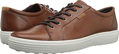 ECCO Men's Soft 7 Tie Fashion Sneaker , Mahogany , 43 EU / 9-9.5 M US