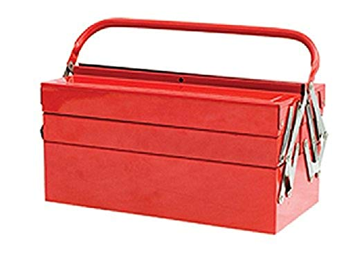 17 Cantilever Tool Box - Faithfull Metal Cantilever Tool Box 40Cm (17In) 5 Tray