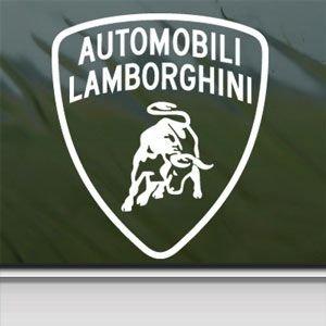 Lamborghini White Sticker Decal Logo Bull White Car Window Wall
