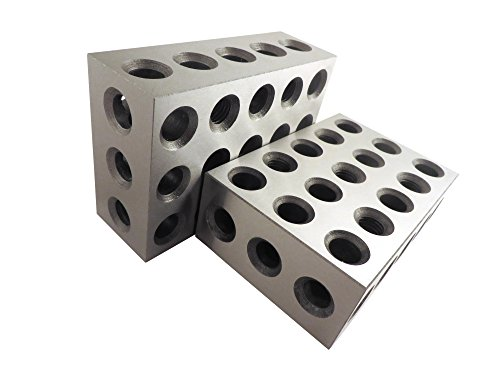 2-4-6 Blocks Matched Pair (2 each), Hardened Steel RC 55-62, 23 Holes (2''x4''x6'') 246 Precision Ground Machinist Set Up Blocks TTW246 by Taytools