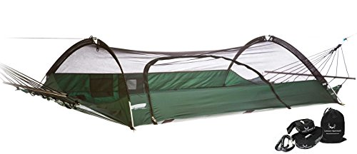 Lawson Hammock Blue Ridge Strap Bundle Tent Hammock Camping, Forest Green Hammock & Strap (Affordable Beds Canopy)