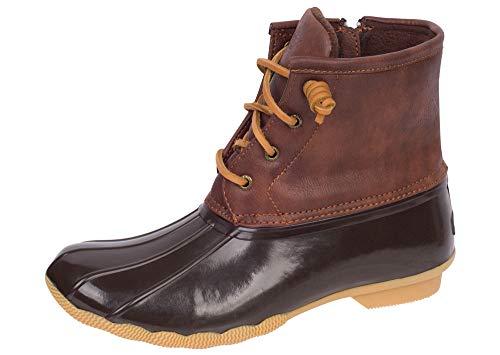 Sperry Saltwater Rain Boot (Little Kid/Big Kid), Brown/Brown, 5 M US Big Kid (Water Features Sale)