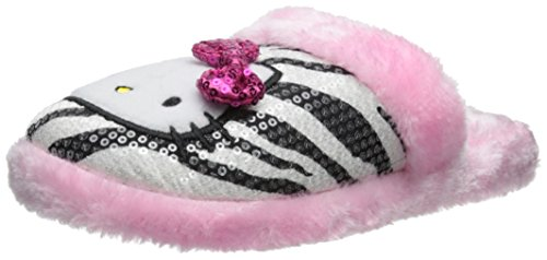 Hello Kitty Women's Sequin Slide Slipper, White, Small - Slide Hello Kitty