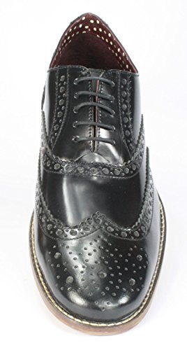 Mocassino Black Pelle Uomo Richelieu Shine Leather Gatsby Hi Brogues London WYXqOO