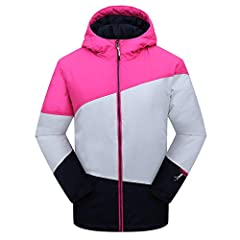 A fully featured, versatile ski jacket protection the girls in wet, cold conditions has a waterproof/breathable shell and synthetic insulation. Features include a removable hood, powder skirt, Velcro adjustable cuffs, and drawcord adj...