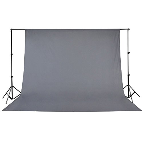 Gray Muslin Backdrop 100% Cotton Photography Background Photo Studio 10 x -