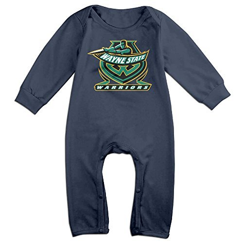 Price comparison product image OOKOO Baby's Wayne State University Warriors Bodysuits Outfits Navy 12 Months