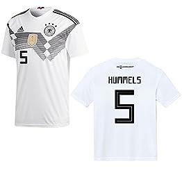 Adidas - Maillot de l'équipe de foot d'Allemagne à domicile - Pour hommes - Coupe du monde 2018 - Hummels 5