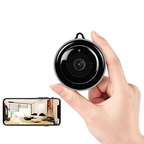 Mini Hidden Camera, HD 1080P Wireless WiFi Small Camera with Night Vision and Motion Detection, Mini NannyCam with Loop Recording for Indoor Outdoor Home Security