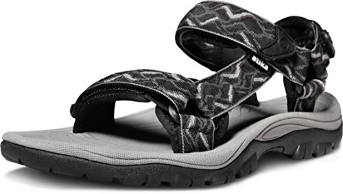 ATIKA AT-M111-MBK_Men 9 D(M) Men's Sport Sandals Maya Trail Outdoor Water Shoes M111 (True to Size)