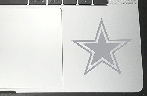 Dallas Cowboys Vinyl Sticker Decals for Car Bumper Window MacBook pro Laptop iPad iPhone (Silver, 2