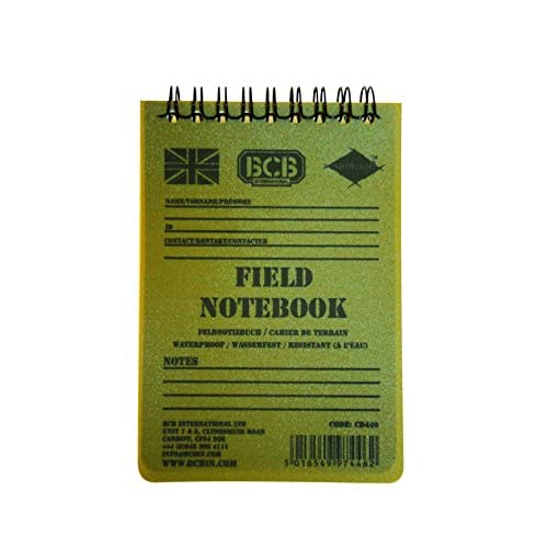 41%2BKK7OTDZL. SS500  - Bushcraft BCB Waterproof Field Notebook With Pencil - White