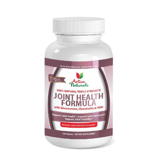 Activa Naturals mixte sur la santé supplément avec le Sulfate de Glucosamine, Sulfate de chondroïtine & MSM - 120 Caps