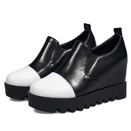 TAOFFEN Chaussures à lacets pour femmes cachées au talon noir