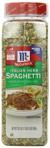 McCormick Italian Herb Spaghetti Sauce Seasoning Mix, 20.5-Ounce (Meat Pizza)