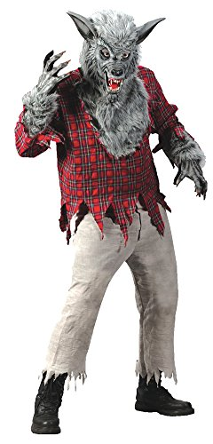 Adult-Costume Grey Werewolf Adult Costume Halloween Costume - Most Adults (Sexy Werewolf Costume)