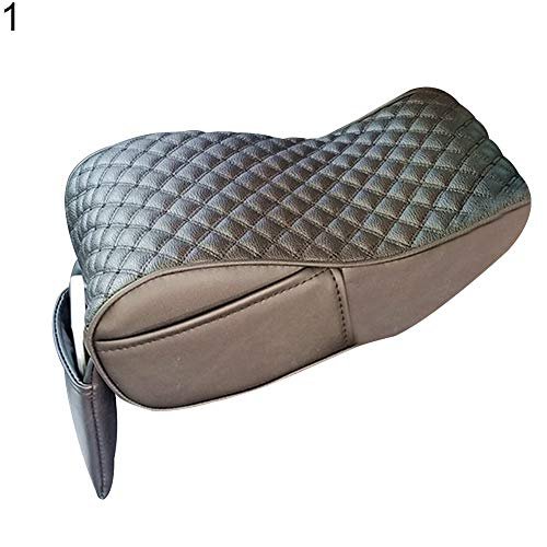 YUSHHO56T Car Armrest Box Pad Car Seats Accessoires Cushion Stylish Car Central Console Armrest Box Soft Heighten Pad Cushion with Pocket - 1 from YUSHHO56T