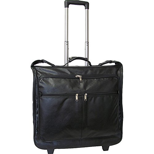 AmeriLeather Wheeled Leather Garment Bag (Black) by Amerileather