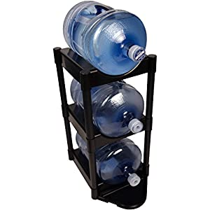 Bottle Buddy Complete System 3-Tier Water Bottle Container Holder Rack Organizer Storage, BLACK