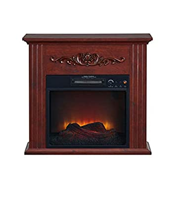 Electric Fireplace-Fire Place Embers-Led Fireplace-Space Heater-Fireplace Electric-Adjustable Led Flame With Remote Control Freestanding Chestnut-Child Lock Protection 28 Inch Electric Fireplace