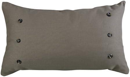 HiEnd Accents Piedmont Accent Pillow, Large, Grey