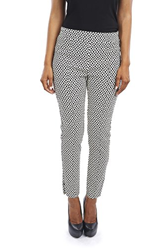 Joseph Ribkoff Ankle Length Diamond Pattern Slim Fit Stretch Pant - Style 163852 - Size 16 by Joseph Ribkoff