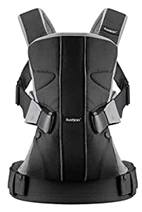 BABYBJORN Baby Carrier One - Black/Silver, Cotton Mix