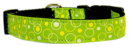 Mirage Pet Products Retro Nylon Ribbon Collar, Large, Lime Green from Mirage Pet Products