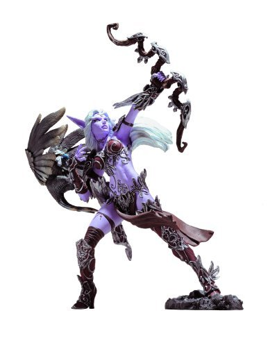 World of Warcraft Series 5: Night Elf Hunter: Alathena Moonbreeze with Sorna Action Figure by DC Comics