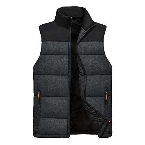 Insulated Heated Vest Gilets,Adjustable 3 Levle Temperature Intelligent Electric Vest Washable Body Warmer Gilet USB Rechargeable for Outdoor,Black-L