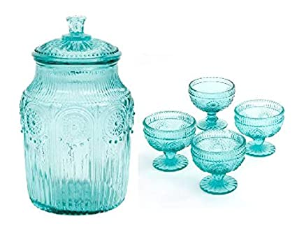 Amazon Com The Pioneer Woman Adeline Glass Canister In Teal
