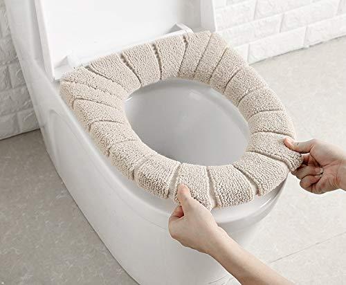 Rongxin Badkamer Toilet Seat Vulling Zachte Warmer Mat Cover Pad Kussen Stoelhoezen (Kleur: Zoals getoond)