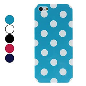 Dots Pattern Hard Case for iPhone 5/5S (Assorted Colors) --- COLOR:Rose