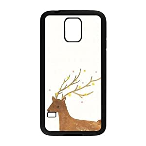 JJZU(R) Design New Fashion Cover Case with The Deer for SamSung Galaxy S5 I9600 - JJZU902738