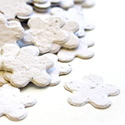 White 5-Petal Plantable Seed Confetti (three 350 piece bags = 1050 pcs)