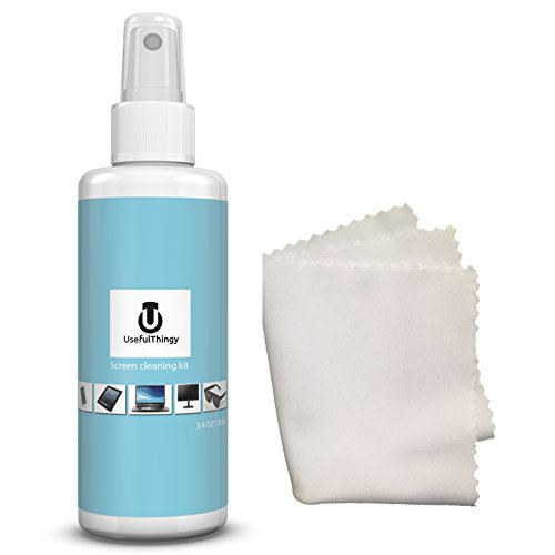 Screen Cleaning Kit - Cleaner is Best For Laptop, Eyeglasses, TV, iPhone, iPad, Kindle, Touch Screens - 1 Cleaning Spray 3.4 OZ + 1 Microfiber Polishing Cloth - Streak Free (Best Screen Cleaner compare prices)
